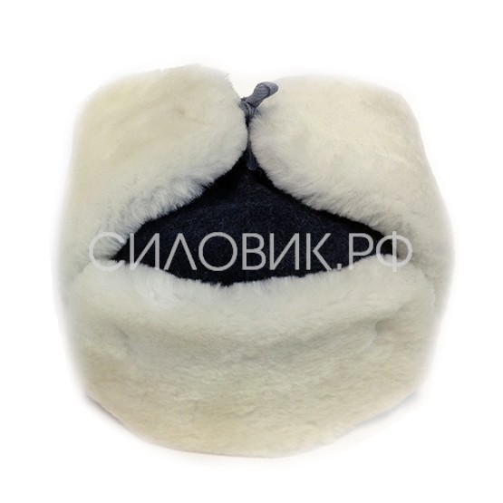 Шапка-ушанка белая