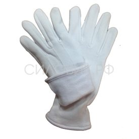 Перчатки парадные белые, утеплённые